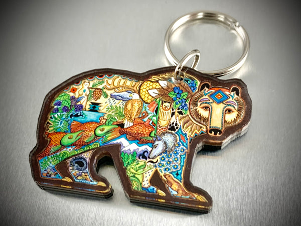 Grizzly Bear Key Chain