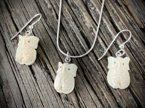 Mammoth Ivory Owl Set