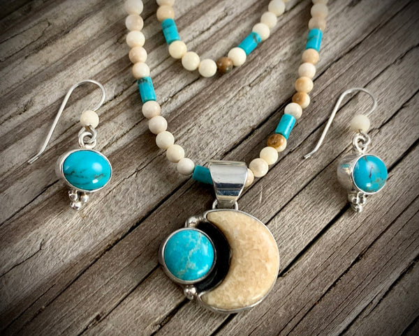 Walrus Ivory and Turquoise Set