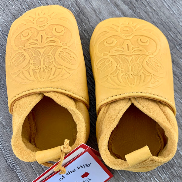 Baby Deerskin Leather Moccasin Eagle