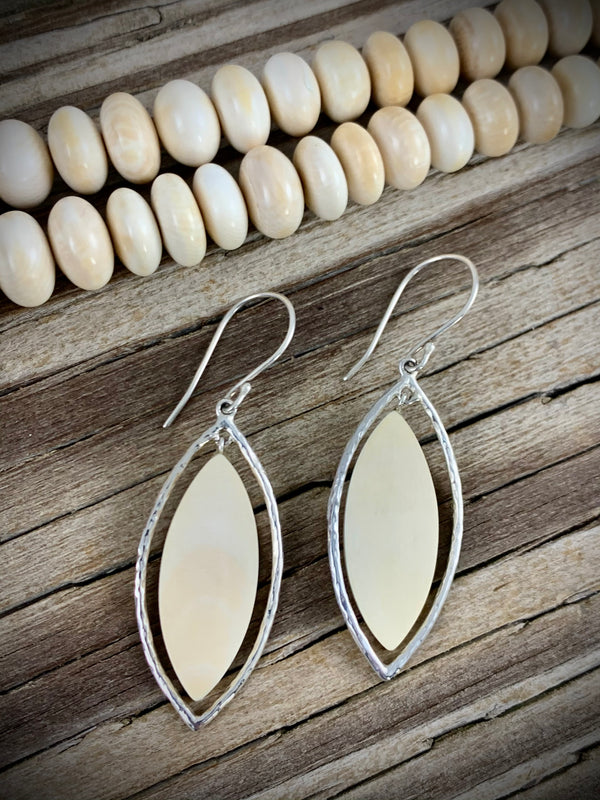 Ivory Tundra Marquise Earrings