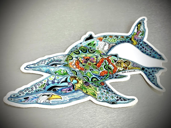 Humpback Whales Sticker