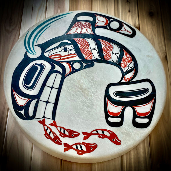 "Killer Whale 16"" Drum by David Boxley"