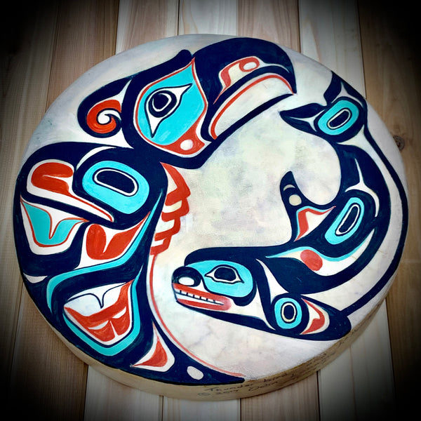 Thunderbird & Whale Drum by Odin Lonning