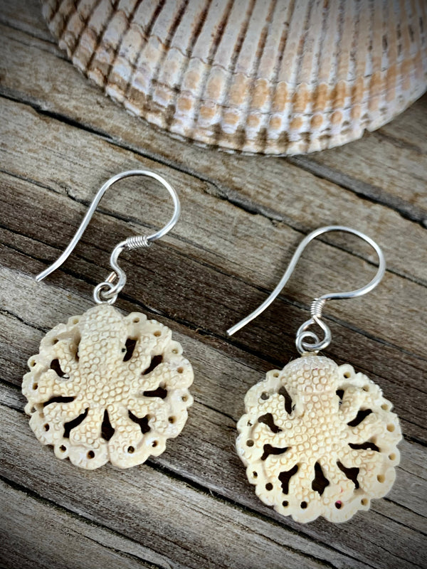 Octopus Earrings - Mammoth Ivory