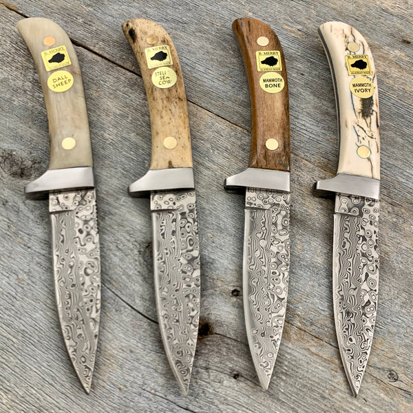Damascus Steel Knife by Bob Merry