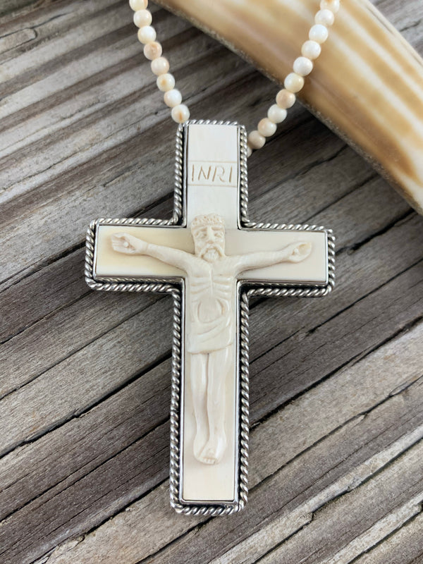 Mammoth Ivory Cross Pin/Pendant