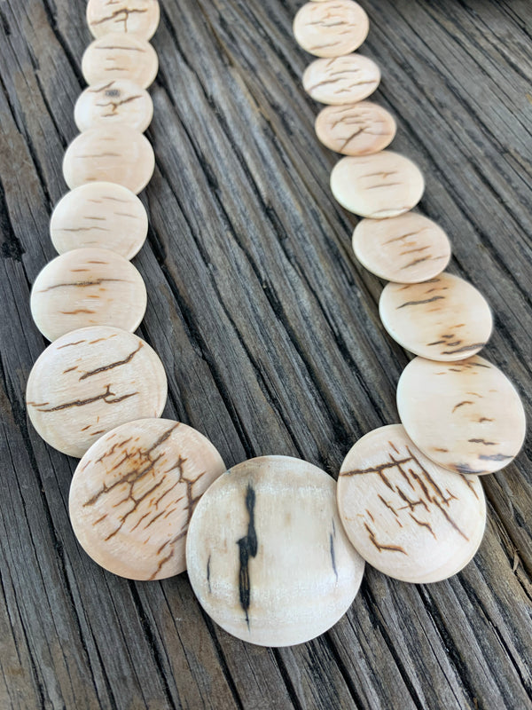 Mammoth Ivory Disc Necklace