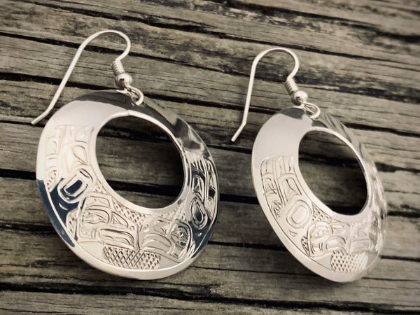 Lovebirds Round Earrings