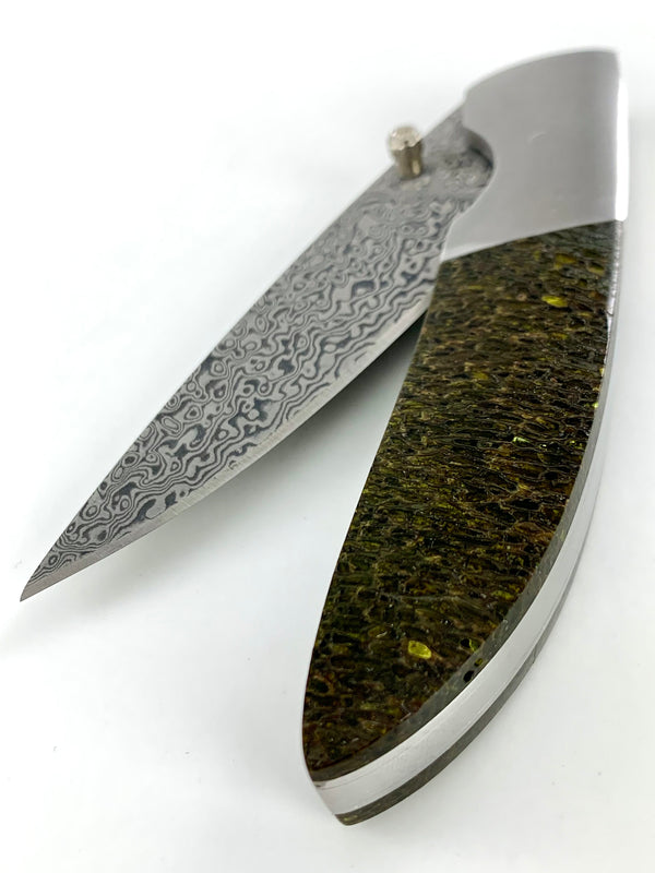 Mammoth Bone Damascus Knife