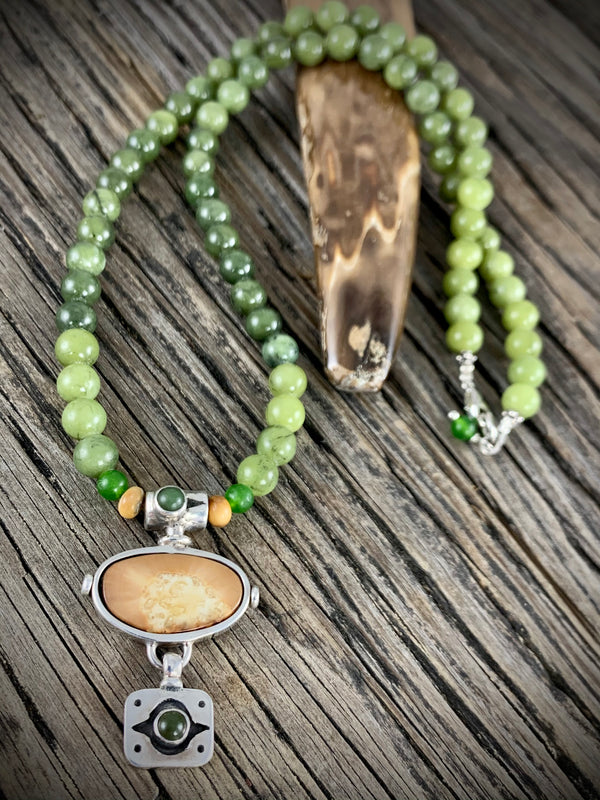 Ivory w/ Jade Necklace