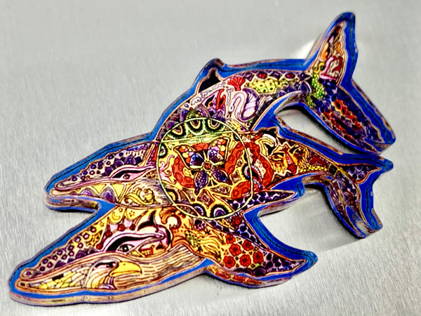 Whales Magnet by Sue Coccia