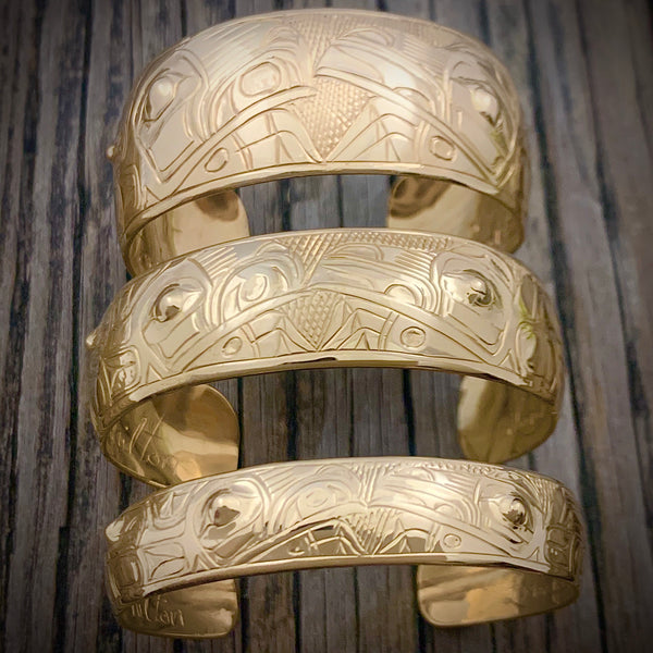 "14kt Gold Lovebirds 6"" Bracelet by Gene Chilton"