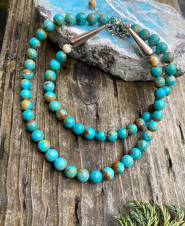 Ivory and Turquoise Necklace