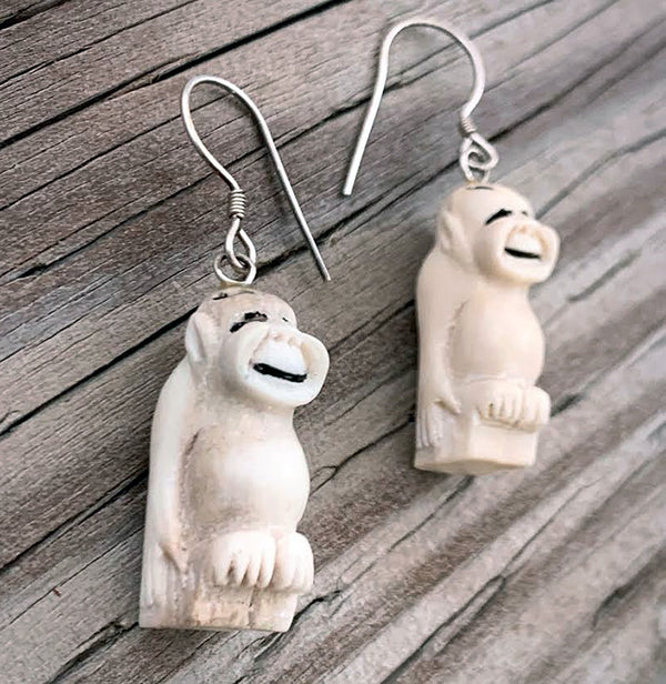 Antler Billiken Earrings