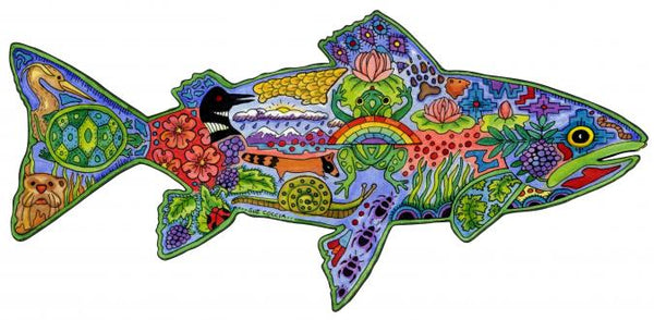 Trout Puzzle by Sue Coccia
