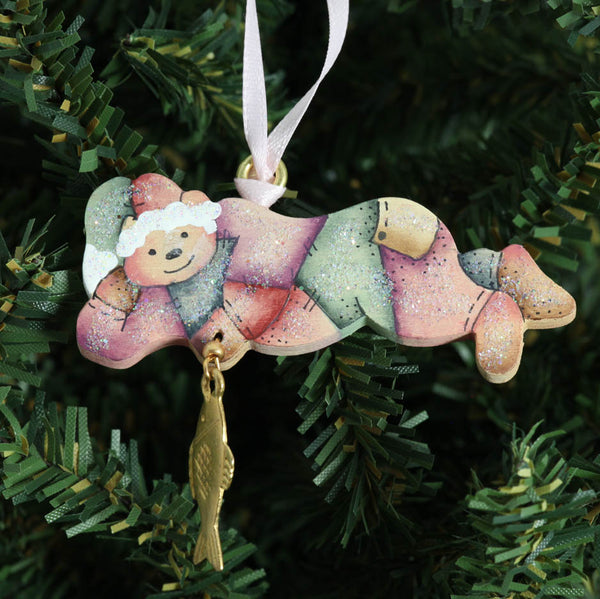 Dream Bear with Fish Ornament