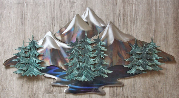Little Peaks Steel Art