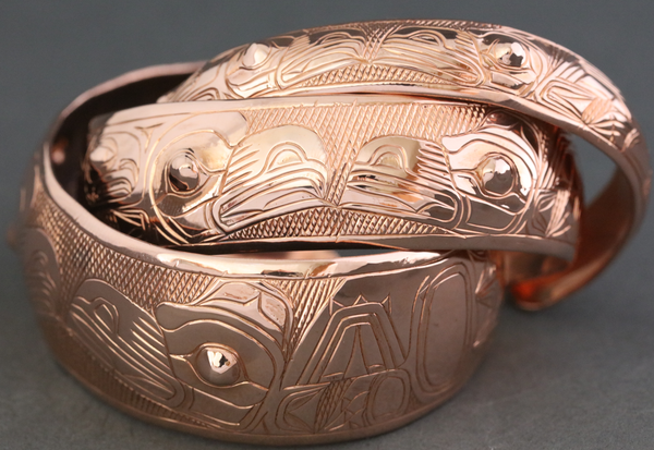 "Lovebirds Copper 6"" Bracelet by Chilton"