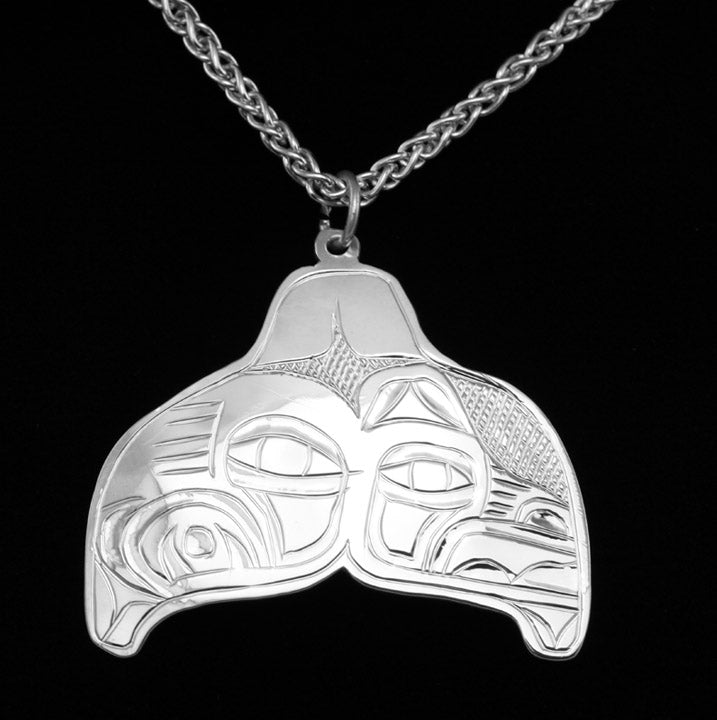 Lovebirds Whale Tail Pendant