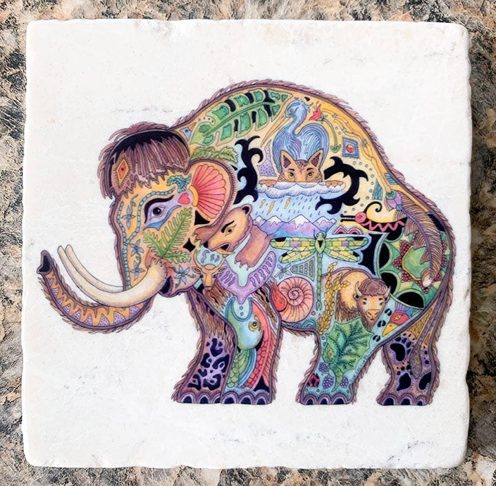 Marble Mammoth Coaster by Sue Coccia