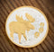 Moose Tracks Medallion with 24k Gold Relief