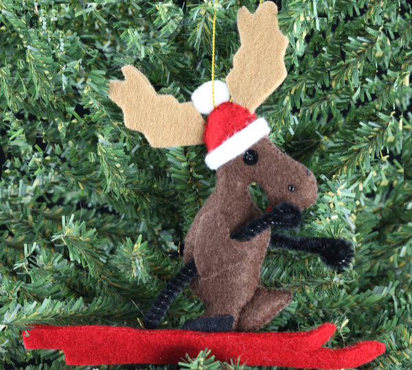 Ski Moose Ornament