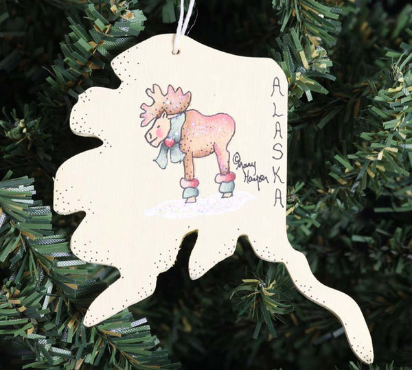 AK State Ornament (Moose)