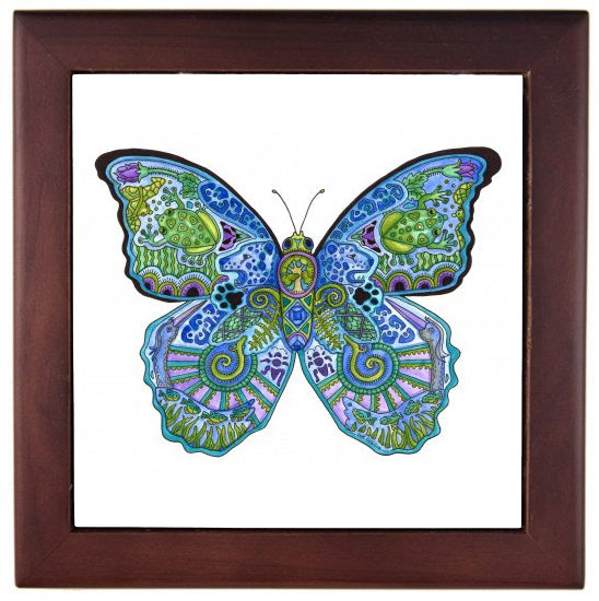 Blue Morpho Butterfly Trivet by Sue Coccia