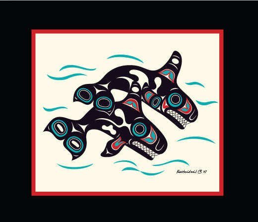 Orcas by Israel Shotridge