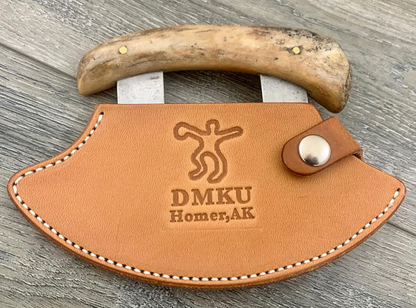 "6"" Nunivak Leather Ulu Sheath"