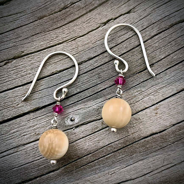 Mammoth Ivory Bead Earrings
