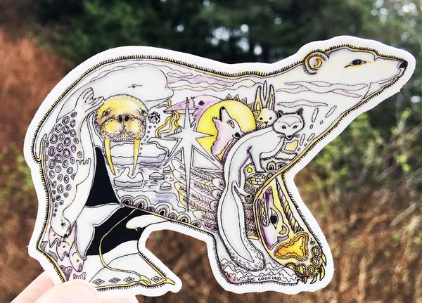 Polar Bear Sticker by Sue Coccia