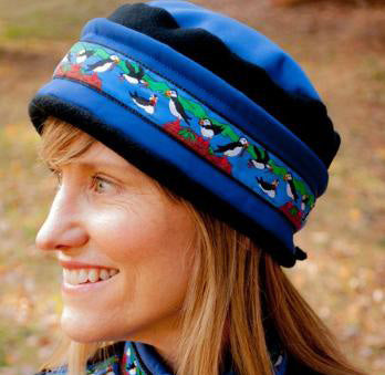 Aurora Puffins Hat -Blueberry