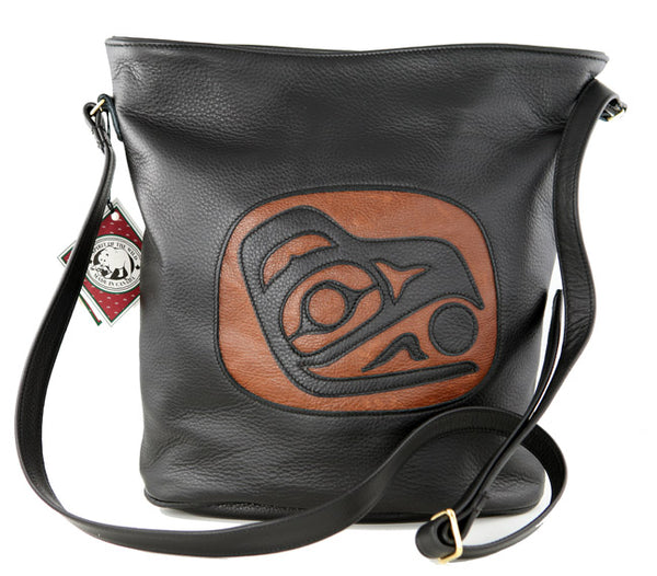 Raven Leather Purse w-Snap Cognac
