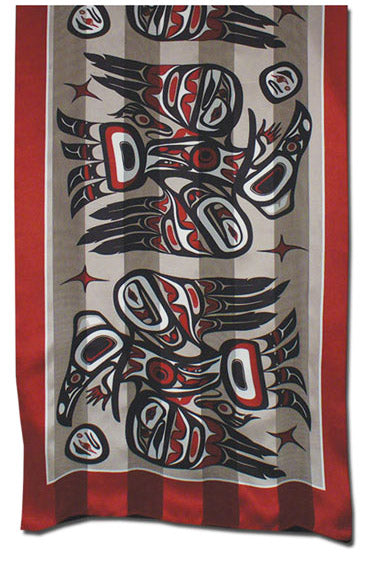 Raven Scarf - Red-Black