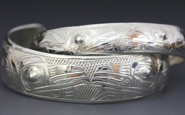 Raven Split Silver Bracelet by Chilton