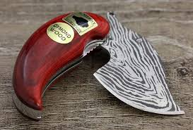 Pocket Ulu Damascus Style Knife