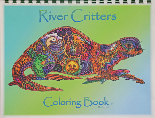 River Critters Coloring Book by Sue Coccia