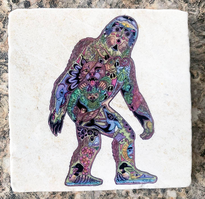 Marble Sasquatch Coaster by Sue Coccia
