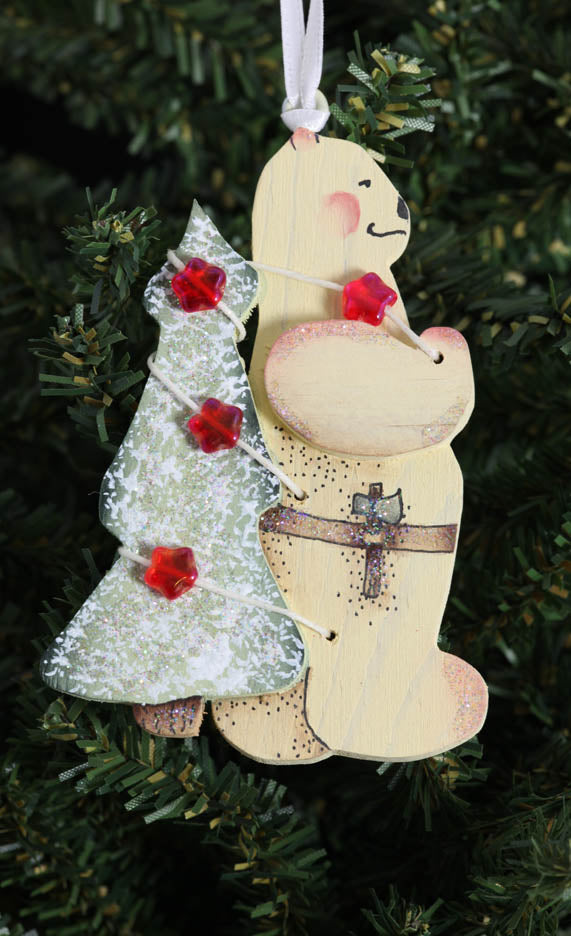Bear-Tree on back Ornament