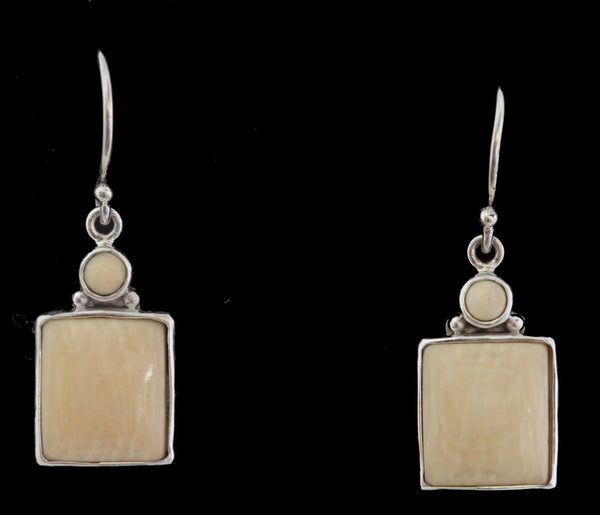 Mammoth Ivory Earrings - Square