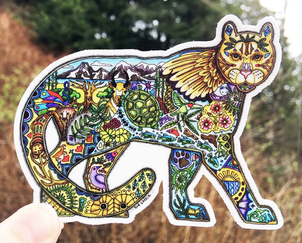 Mountain Lion Sticker by Sue Coccia