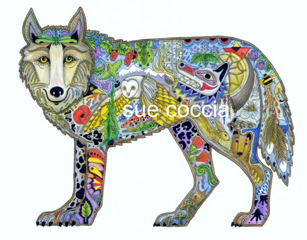 Wolf Standing by Sue Coccia