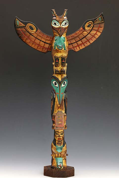 Shaman's Daughter Totem Pole
