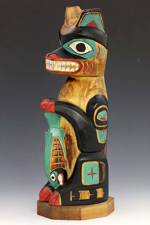 Wolf's Offering Totem Pole