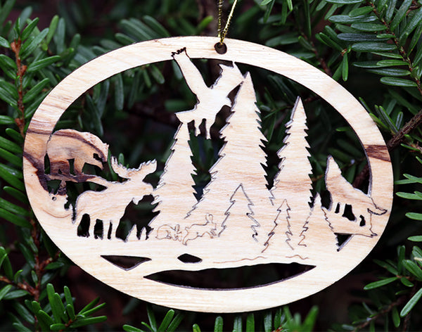 Olive Wood Ornament-Forest