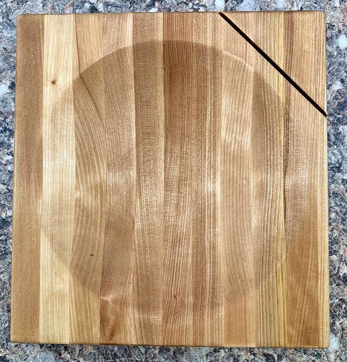 "8"" Birch Ulu Cutting Board - Bowl"