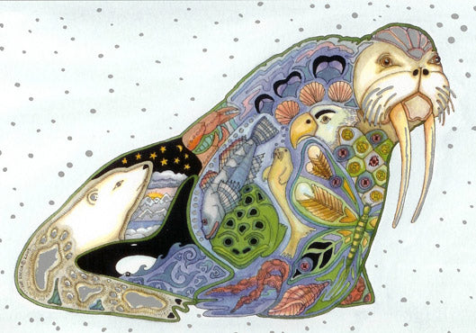 Walrus Holiday Card by Sue Coccia