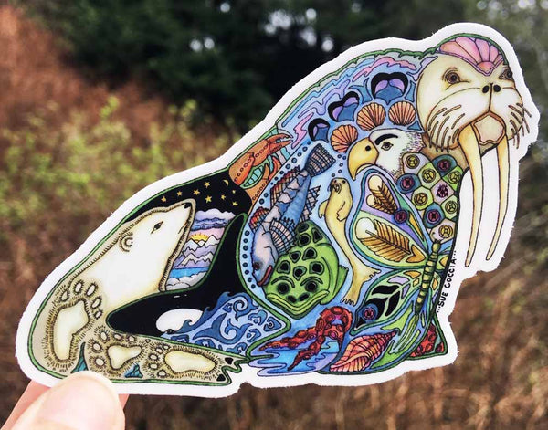 Walrus Sticker by Sue Coccia
